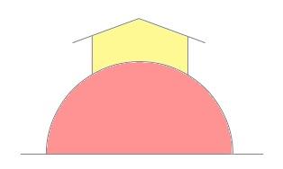 Распределение тепла в геокуполе (схематично)