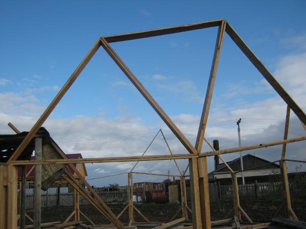 Несколько соседних треугольников крупным планом